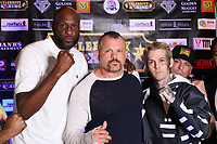 ATLANTIC CITY, NJ - JUNE 10 : Lamar Odom, Chuck Lidell and Aaron Carter at Celebrity Boxing weigh in at The Show Boat Hotel in Atlantic City New Jersey June 10, 2021 Credit: Star Shooter/MediaPunch