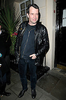 "JAMES PUREFOY .Departed after the first preview performance of ""Flare Path"", Haymarket, London, England, UK, 4th March 2011..full length black jacket leather hand in pocket .CAP/CAN.©Can Nguyen/Capital Pictures."