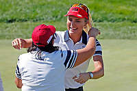 5th September 2021; Toledo, Ohio, USA;  Lexi Thompson of Team USA hugs her captain Pat Hurst on the 17th green during the morning Four-Ball Pairings during the Solheim Cup on September 5th