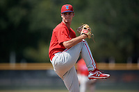 Philadelphia Phillies pitcher Nick Fanti (64) delivers a pitch during a Florida Instructional League game against the New York Yankees on October 11, 2018 at Yankee Complex in Tampa, Florida.  (Mike Janes/Four Seam Images)