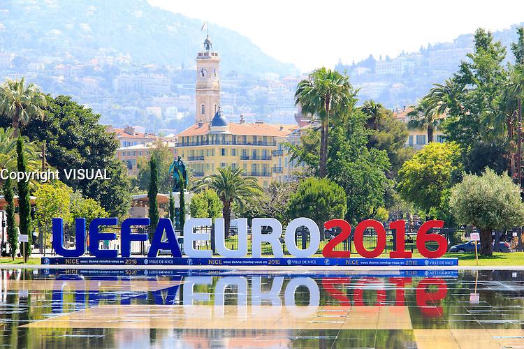 uefa euro 2016 illustration en ville de nice le jeudi 9 juin 2016