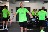 Mike van der Hoorn in the gym during the Swansea City Training at The Fairwood Training Ground in Swansea, Wales, UK. Wednesday 18 September 2019