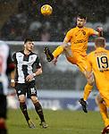 02.03.2019: St Mirren v Livingston: Ryan Hardie and Mihai Popescu