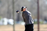 WALLACE, NC - MARCH 09: Abigayle Hatcher of USC Upstate tees off on the 11th hole of the River Course at River Landing Country Club on March 09, 2020 in Wallace, North Carolina.
