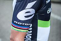 Former World Champion Mark Cavendish (GBR/Team Dimension Data) pre race <br /> <br /> 102nd Kampioenschap van Vlaanderen 2017 (UCI 1.1)<br /> Koolskamp - Koolskamp (192km)