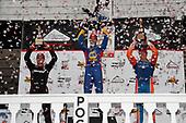 Alexander Rossi, Andretti Autosport Honda, Will Power, Team Penske Chevrolet, Scott Dixon, Chip Ganassi Racing Honda celebrate on the podium