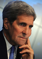 NEW YORK, NY - AUGUST 11: US Secretary of State John Kerry holds a press conference over the Iran Nuclear Deal at Reuters' NY Headquarters on August 11, 2015.<br /> <br /> <br /> People:  Secretary of State John Kerry<br /> <br /> T