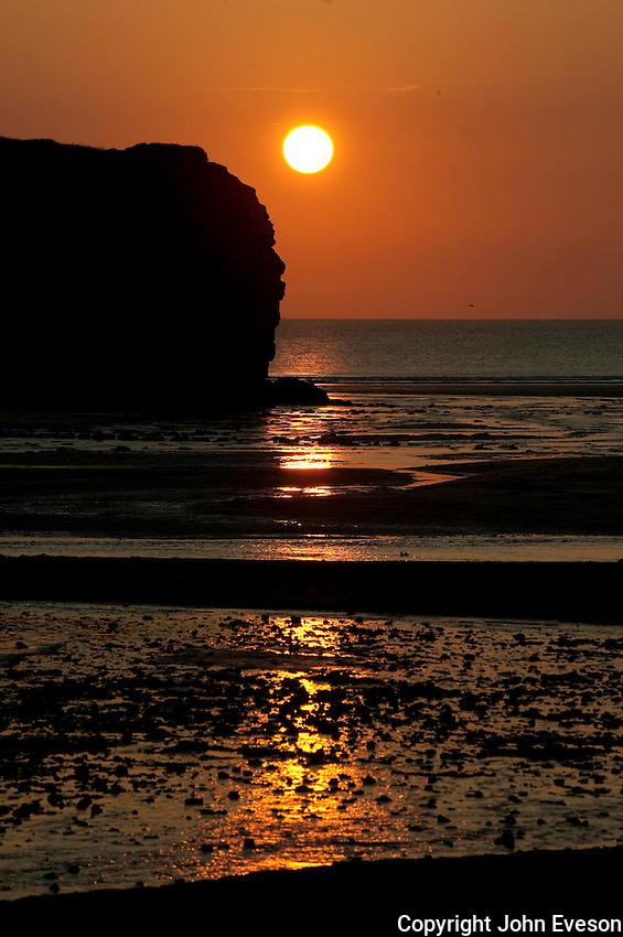 Sunset, Perranporth, Cornwall.