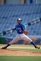 Toronto Blue Jays pitcher Jose Espada (6) during an Instructional League game against the Philadelphia Phillies on September 23, 2019 at Spectrum Field in Clearwater, Florida.  (Mike Janes/Four Seam Images)