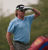 Miguel Angel Jimenez in action during the opening round of the  2012 Commercial Bank Qatar Masters being played over the Championship Course at Doha Golf Club, Doha, Qatar from 2nd to 5th February 2012. Picture Stuart Adams www.golftourimages.com: 2nd February 2012