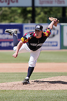 May 31, 2009:  Pitcher Erik Crichton of the West Michigan White Caps delivers a pitch during a game at Fifth Third Ballpark in Comstock Park, MI.  The White Caps are the Midwest League Low-A affiliate of the Detroit Tigers.  Photo By Emily Jones/Four Seam Images