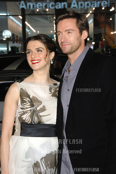 """RACHEL WEISZ & HUGH JACKMAN at the US premiere of their new movie """"The Fountain"""" at Grauman's Chinese Theatre, Hollywood..November 11, 2006  Los Angeles, CA.Picture: Paul Smith / Featureflash"""