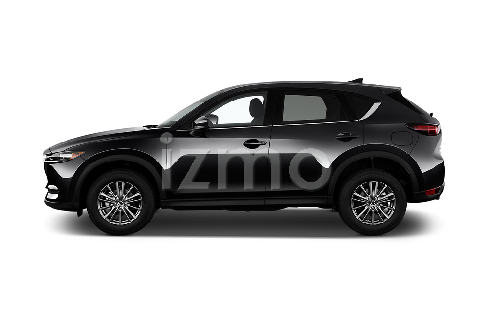 Car driver side profile view of a 2018 Mazda CX-5 Sport 5 Door SUV