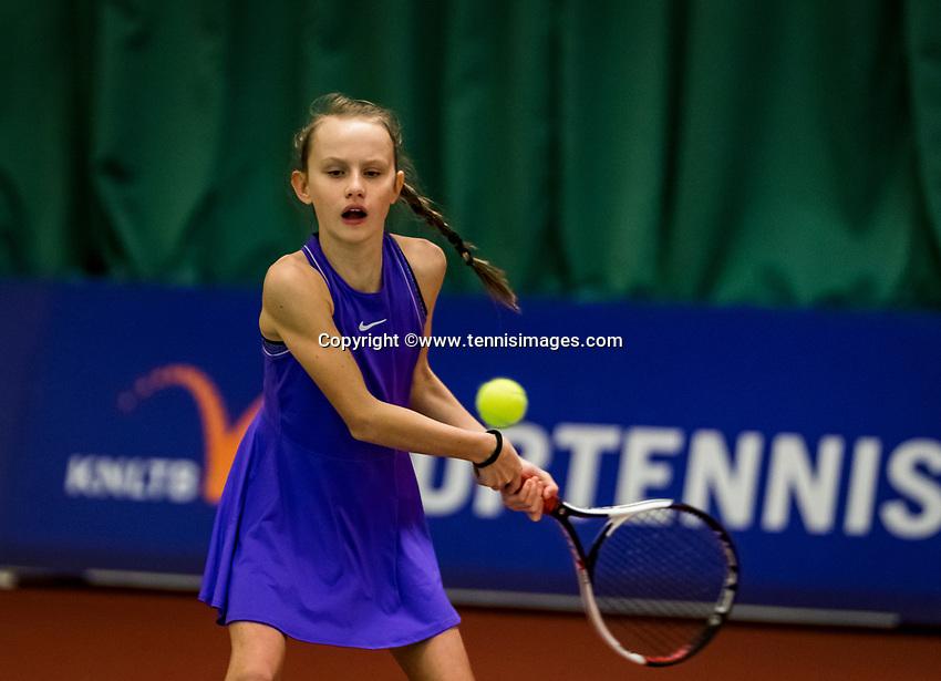 Wateringen, The Netherlands, November 27 2019, De Rhijenhof , NOJK 12/16 years, Dallas Janssen (NED)<br /> Photo: www.tennisimages.com/Henk Koster