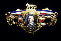 Close up of a Lonsdale championship belt
