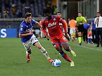 23rd September 2021; G.Ferraris Stadium, Genoa, Italy; Serie A football, Sampdoria versus Napoli : Andre Anguissa of Napoli breaks along the wing on the ball
