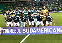 PALMIRA - COLOMBIA, 19-09-2018: Los jugadores de Deportivo Cali, posan para una foto, antes de partido entre Deportivo Cali (COL) y Liga Deportiva Universitaria de Quito (ECU), de los octavos de final, llave H, por la Copa Conmebol Sudamericana 2018, jugado en el estadio Deportivo Cali (Palmaseca) en la ciudad de Palmira. / The players of Deportivo Cali, pose for a photo, prior a match between Deportivo Cali (COL) and Liga Deportiva Universitaria de Quito (ECU), of eighth finals, key H, for the Copa Conmebol Sudamericana 2018, at the Deportivo Cali (Palmaseca) stadium in Palmira city. Photo: VizzorImage  / Luis Ramirez / Staff.