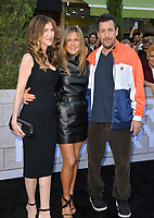 """LOS ANGELES, USA. June 11, 2019: Jennifer Aniston, Adam Sandler & Jackie Sandler at the premiere of """"Murder Mystery"""" at Regency Village Theatre, Westwood.<br /> Picture: Paul Smith/Featureflash"""
