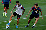 Unai Nunez and Diego Llorente during the Trainee Session at Ciudad del Futbol in Las Rozas, Spain. September 02, 2019. (ALTERPHOTOS/A. Perez Meca)