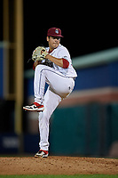 Mahoning Valley Scrappers pitcher Jose Oca (35) during a NY-Penn League game against the State College Spikes on August 29, 2019 at Eastwood Field in Niles, Ohio.  State College defeated Mahoning Valley 8-1.  (Mike Janes/Four Seam Images)