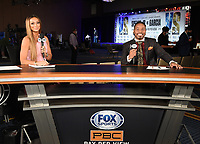 DALLAS, TX - DECEMBER 4: Kate Abdo and Shawn Porter at the weigh-in for the Errol Spence Jr. vs Danny Garcia December 5, 2020 Fox Sports PBC Pay-Per-View fight night at AT&T Stadium in Arlington, Texas. (Photo by Frank Micelotta/Fox Sports)