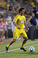 29 MAY 2010:  Guillermo Barros Schelotto of the Columbus Crew (7) during MLS soccer game between LA Galaxy vs Columbus Crew at Crew Stadium in Columbus, Ohio on May 29, 2010. Galaxy defeated the Crew 2-0.