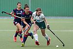 v.li.: Clara Badia Bogner (MHC, 9), Julia Meffert (MHC, 97), Charlotte von Hülsen (Mülheim, 11), Zweikampf, Spielszene, Duell, duel, tackle, tackling, Dynamik, Action, Aktion, 01.05.2021, Mannheim  (Deutschland), Hockey, Deutsche Meisterschaft, Viertelfinale, Damen, Mannheimer HC - HTC Uhlenhorst Mülheim <br /> <br /> Foto © PIX-Sportfotos *** Foto ist honorarpflichtig! *** Auf Anfrage in hoeherer Qualitaet/Aufloesung. Belegexemplar erbeten. Veroeffentlichung ausschliesslich fuer journalistisch-publizistische Zwecke. For editorial use only.