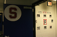 7 April 2008: Stanford Cardinal lockerroom during Stanford's press conference for the 2008 NCAA Division I Women's Basketball Final Four championship game at the St. Pete Times Forum Arena in Tampa Bay, FL.