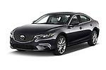2017 Mazda Mazda6 Prestige Edition 4 Door Sedan angular front stock photos of front three quarter view