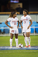Stanford, CA - December 8, 2019: Catarina Macario, Madison Haley at Avaya Stadium. The Stanford Cardinal won their 3rd National Championship, defeating the UNC Tar Heels 5-4 in PKs after the teams drew at 0-0.