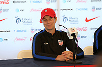 Cary, NC - Saturday October 21, 2017: Jill Ellis during a United States (USA) Women's National Team press conference at Sahlen's Stadium at WakeMed Soccer Park.