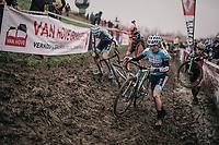 'slip'n'slidin' by Arne Baers (BEL)<br /> <br /> Junior Men's Race<br /> Belgian National CX Championschips<br /> Kruibeke 2019