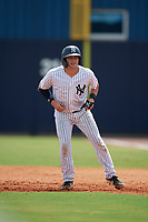 GCL Yankees East Alex Guerrero (8) leads off during a Gulf Coast League game against the GCL Phillies East on July 31, 2019 at Yankees Minor League Complex in Tampa, Florida.  GCL Yankees East defeated the GCL Phillies East 11-0 in the first game of a doubleheader.  (Mike Janes/Four Seam Images)