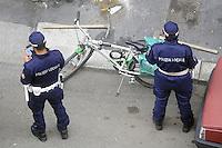- Milan, local police checking road works<br /> <br /> - Milano, polizia locale controlla lavori stradali