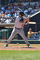 Kevin Taylot (12) of the Binghamton Rumble Ponies bats during a game against the Hartford Yard Goats at Dunkin Donuts Park on May 9, 2018 in Hartford, Connecticut.<br /> (Gregory Vasil/Four Seam Images)