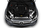 Car Stock 2019 Mercedes Benz E-Class AMG-E53 2 Door Coupe Engine  high angle detail view