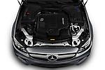 Car Stock 2019 Mercedes Benz E-Class AMG-E53 2 Door Coupe Engine  high angle detail view