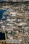 An aerial view of Newport, R.I. a popular summer tourist destination and yachting center. Aerial images of RI/Narragansett Bay