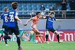 Jeju United Forward Magno Da Cruz (L) fights for the ball with Gamba Osaka Defender Yonekura Koki (R) during the AFC Champions League 2017 Group H match Between Jeju United FC (KOR) vs Gamba Osaka (JPN) at the Jeju World Cup Stadium on 09 May 2017 in Jeju, South Korea. Photo by Marcio Rodrigo Machado / Power Sport Images