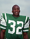 New York Jets Emerson Boozer (32) portrait from his career  with the New York Jets. Emerson Boozer played for 10 season all with the Jets and was a 2-time Pro Bowler.(SportPics)
