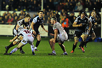 Olly Cracknell of Ospreys in action during the Guinness Pro14 Round 15 match between the Ospreys and Ulster Rugby at Morganstone Brewery Field in Bridgend, Wales, UK. Friday 15 February 2019
