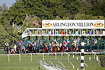 ARLINGTON HEIGHTS, IL - AUGUST 13:  The field exits the starting gate at the start of the Arlington Million at Arlington International Racecourse on August 13, 2016 in Arlington Heights, Illinois. (Photo by Jon Durr/Eclipse Sportswire/Getty Images)