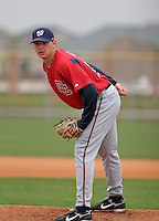 Washington Nationals minor leaguer Cole Kimball during Spring Training at the Carl Barger Training Complex on March 20, 2007 in Melbourne, Florida.  (Mike Janes/Four Seam Images)