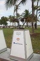 Statuen ehemaliger Spieler aus Florida im Super Bowl auf der NFL Fanmeile am Ocean Drive in Miami Beach<br /> NFL Fan Jam, Miami Beach *** Local Caption *** Foto ist honorarpflichtig! zzgl. gesetzl. MwSt. Auf Anfrage in hoeherer Qualitaet/Aufloesung. Belegexemplar an: Marc Schueler, Alte Weinstrasse 1, 61352 Bad Homburg, Tel. +49 (0) 151 11 65 49 88, www.gameday-mediaservices.de. Email: marc.schueler@gameday-mediaservices.de, Bankverbindung: Volksbank Bergstrasse, Kto.: 52137306, BLZ: 50890000