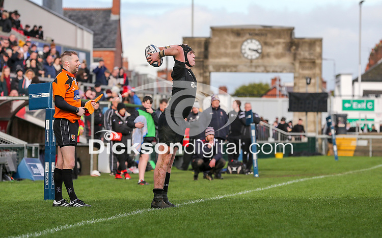 Tuesday 6th March 2019   Ulster Schools Cup - Semi Final 1<br /> <br /> Jack Boal during the Ulster Schools cup semi-final between Campbell College Belfast and the Royal School Armagh at Kingspan Stadium, Ravenhill Park, Belfast, Northern Ireland. Photo by John Dickson / DICKSONDIGITAL
