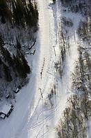 Aerial of Ramey Smyth Entering Anvik Iditarod 2005