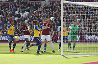 West Ham United's Marko Arnautovic scores his side's second goal <br /> <br /> Photographer Rob Newell/CameraSport<br /> <br /> The Premier League - West Ham United v Southampton - Saturday 4th May 2019 - London Stadium - London<br /> <br /> World Copyright © 2019 CameraSport. All rights reserved. 43 Linden Ave. Countesthorpe. Leicester. England. LE8 5PG - Tel: +44 (0) 116 277 4147 - admin@camerasport.com - www.camerasport.com