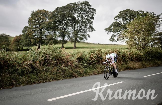 Luke Durbridge (AUS/Mitchelton-Scott)<br /> Elite Men Individual Time Trial<br /> from Northhallerton to Harrogate (54km)<br /> <br /> 2019 Road World Championships Yorkshire (GBR)<br /> <br /> ©kramon