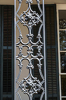 New Orleans, Louisiana.  Cast-iron Grillwork in a Garden District House.