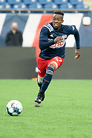 FOXBOROUGH, MA - APRIL 17: Christian Malfa #38 of New England Revolution II during a game between Richmond Kickers and Revolution II at Gillette Stadium on April 17, 2021 in Foxborough, Massachusetts.